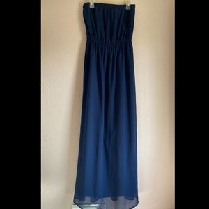 Forever 21 dark blue maxi dress